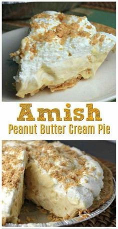 Amish Peanut Butter Cream Pie Recipe | Family Recipes #pie #pierecipe