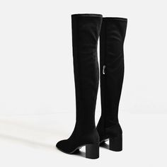 Image 4 of STRETCH HIGH HEEL OVER-THE-KNEE BOOTS from Zara