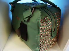 MUST-HAVE WISHLIST ITEM Nr. 2; A sage/mint studded Pinko bag! Check out my blog La Vie Fleurit! www.LaVieFleurit.com ... ENJOY! #fashion, #beauty, #accessories, #lifestyle, #art, #interior, #food, #look, #style, #wishlist, #luxury, #hotspots