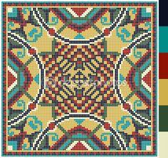 πλατεία γεωμετρικό μοτίβο για Σταυρός ουκρανική παραδοσιακά κεντήματα βελονιά, που όπως χειροποίητα και δημιουργία, pixel καλλωπιστικών διανυσματικά εικονογράφηση — Αρχείο Εικονογραφήσεων #66286933