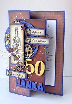 kartkulec: NA MĘSKIE URODZINY Special Birthday Cards, Happy Birthday Son, Birthday Cards For Men, Handmade Birthday Cards, Fancy Fold Cards, Folded Cards, Paper Cards, Diy Cards, Christmas Cards To Make
