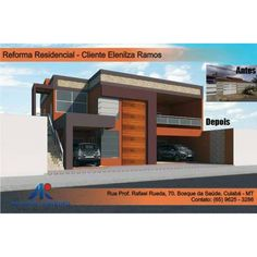 Reforma residencial. Álvaro Ribeiro - Projetos e treinamentos (65 96253286). #reforma #fachada #antesedepois #arquiteto #arquitetura #projeto #arquitetoalvaroribeiro
