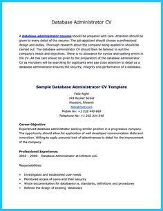 Nice High Impact Database Administrator Resume To Get Noticed Easily, Check  More At Http: