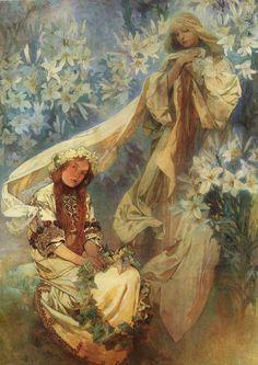 Alfons Mucha Slav Epic | Madonna of the Lilies. Mucha Museum, Prague