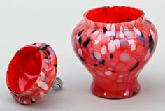 Lot: 349: Czech Glass Group of Five, Lot Number: 0349, Starting Bid: $60, Auctioneer: Material Culture, Auction: December Estates Auction, Date: December 8th, 2012 EST