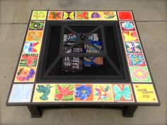 Such a cute idea to make the fire-pit personalized! I'm thinking a tile for each house the fire-pit has moved too! ;-)