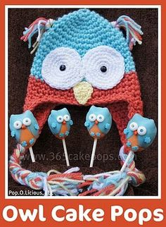 Owl cake pops. Thought this would be cute as fondant animal.