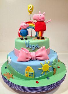 Tarta Peppa Pig y George // Peppa Pig and George Cake