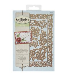Decorate your themed craft projects using the Spellbinders Holiday Nestabilities Card Creator Die-Holly Frame. These metal dies feature enchanting Christmas themed designs including sticks, candies an