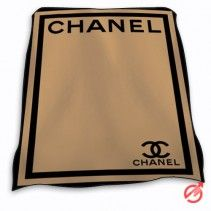 Chanel Brown Double Square Blanket