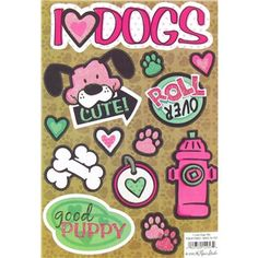 I Love Dogs Glitter Cardstock Stickers | Shop Hobby Lobby