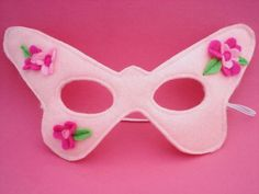 Pink Butterfly Mask by herflyinghorses on Etsy, $12.00