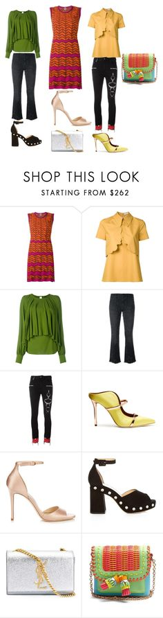 """""""Wear it happy???"""" by jamuna-kaalla ❤ liked on Polyvore featuring M Missoni, VIVETTA, Plein Sud, STELLA McCARTNEY, County Of Milan, Malone Souliers, Jimmy Choo, Charlotte Olympia, Yves Saint Laurent and Sophia Webster"""