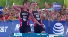 Triathlete Gives Up On Chance To Win To Support His Collapsing Brother Across Finish Line
