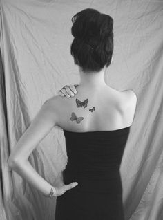 One Butterfly For My Mom. One For Grandma. And One For Me. Butterfly Tattoo | Tumblr