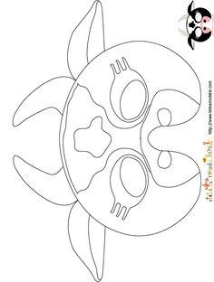 Imprimer le modèle du masque de vache à colorier - Masque - Tête à modeler