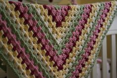 Fresh colors baby afghan, pattern at lionbrand.com