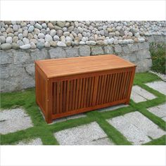 Store Pool Toys, Pillows, And More With This Outdoor Vifah Bresa #Teak  Storage