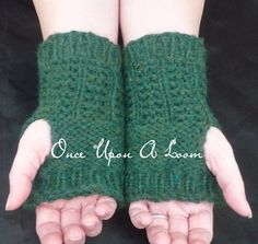 Ravelry: Melisande Wrist Warmers (Loom Knit) pattern by Once Upon A Loom $1.50