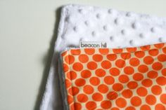 Tutorial on sewing with minky fabric to make a baby blanket.