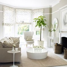 Neutral animal print living room | Decorating with pattern | housetohome.co.uk