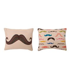 Take a look at this Mustache Throw Pillow on zulily today!
