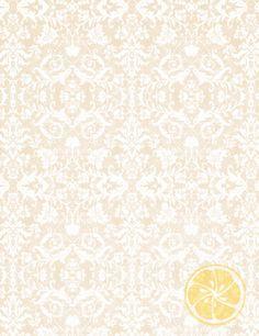 LemonDrop Stop Tan White Damask | Artistic, Vintage, Damask & Floral | PolyPaper Photography Backdrops | LemonDrop Stop Photography Backdrops and FloorDrops $50
