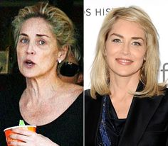 Sharon Stone - much better look with makeup