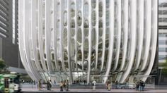 Zaha Hadid Architects' 'Lacework' 600 Collins Street Tower in Melbourne receives planning permission