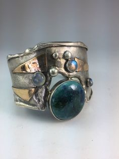 Mixed Metal Jewelry, Mixed Metals, Turquoise Bracelet, Cuff Bracelets, Handmade Jewelry, Products, Rings, Bangles, Handmade Jewellery