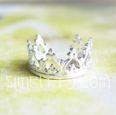 Sterling Silver Princess Crown Ear Cuff by simplyyj on Etsy, $9.00