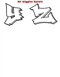 mr wiggles karate alphabet 4 Easy Graffiti Drawings, Graffiti Text, Graffiti Lettering Fonts, Graffiti Tagging, Doodle Lettering, Hand Lettering, Grafitti Letters, Graffiti Alphabet Styles, Graffiti Styles