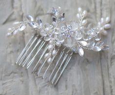 Hair Comes the Bride - Swarovski Crystal Bridal Hair Comb ~ Lorena, $58.00 (http://www.haircomesthebride.com/swarovski-crystal-hair-comb-lorena/)