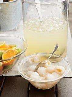 Cocktail de limonade, litchis et noix de coco Recettes | Ricardo