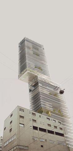 BAM!  Disgiunzione verticale . Milano Un invito a grattare il cielo stimola inevitabilmente la riflessione sul rapporto tra la città e la torre, in particolare sulla sostenibilità programmatica di un modello che, per quanto declinato nelle sue sfumature più green, resta un intruso del tessuto urbano.: