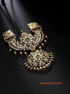 Beautiful Uncut Diamond Necklace Indian Jewellery