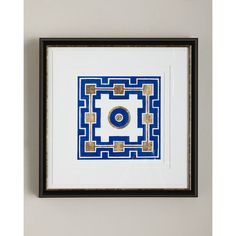 """Cobalt Maze III"" Giclee (1315 QAR) ❤ liked on Polyvore featuring home, home decor, wall art, blue, giclee wall art, blue wall art, cobalt blue home decor, blue home decor and framed wall art"