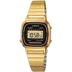 Casio LA670WEGA-1EF Ladies Black Dial Gold Casio LA670WEGA-1EF Ladies Black Dial Gold Plated Digital Watch Stopwatch function - 1/10 sec. - 1 hour 7 preset timer (up to 30 min.) Daily alarm Automatic calendar Chrome-plated resin case Stainless http://www.MightGet.com/february-2017-1/casio-la670wega-1ef-ladies-black-dial-gold.asp