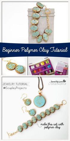 Easy Jewelry Tutorial Using Premo Polymer Clay Silkscreen Kit #SculpeyProjects @savedbyloves