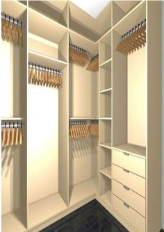 Creative Storage Decor 43 DIY Closet Concepts for Your Small Bedroom Walk In Closet Design, Bedroom Closet Design, Master Bedroom Closet, Bedroom Wardrobe, Wardrobe Closet, Closet Designs, Attic Closet, Bathroom Closet, Bedroom Designs