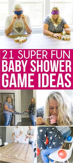The best baby shower games! Tons of great ideas for boys, for girls, for coed sh.- The best baby shower games! Tons of great ideas for boys, for girls, for coed sh… The best baby shower games! Tons of great ideas for… - Idee Baby Shower, Baby Shower Games Unique, Shower Bebe, Girl Shower, Baby Shower Favors, Baby Shower Parties, Baby Shower Gifts, Baby Shower Games For Large Groups, Baby Shower For Girls
