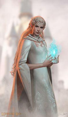 Kingdom Age - Elf  by John Staub dustsplat Dark Fantasy, Medieval Fantasy, Fantasy Girl, Fantasy Women, Elfa, Fantasy Creatures, Mythical Creatures, Character Portraits, Character Art