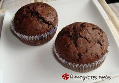 Muffins με σοκολάτα και κανέλα Kai, Good Food, Yummy Food, Chocolate Muffins, Biscuits, Sweet Treats, Food And Drink, Cupcakes, Breakfast