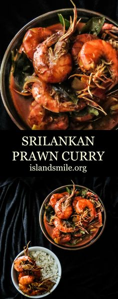 Cooked in Coconut milk and served with hot rice, this Srilankan prawn curry has just the right amount of spices to make it a tasty dish for any type of meal. (healthy recipes for dinner shrimp) Prawn Recipes, Curry Recipes, Fish Recipes, Seafood Recipes, Indian Food Recipes, Asian Recipes, Cooking Recipes, Healthy Recipes, Fish Dishes