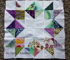 lovely quilt block and great colors!