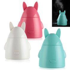Mini USB Rabbit Ultrasonic Diffuser Air Humidifier Mist Cool Air Purifier Office #pg