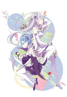 Revealing the character Re: Zero at a young age! Kawaii Anime Girl, Anime Art Girl, Manga Art, Anime Manga, Anime Figures, Anime Characters, Ram And Rem, Re Zero Rem, Pretty Wallpapers