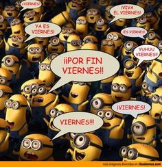 "(They are all saying variations of ""it's Friday"". Love the minions!"