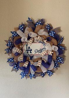 baseball-wreath-la-dodgers but Royals.