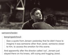 "Every time I see this scene, the echo of ""Sam"" that Jensen yells out still lingers in my ears...gives me goosebumps!"